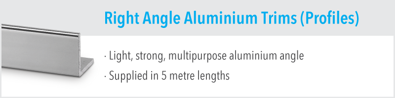 Right Angle Aluminium Trims (Profiles)
