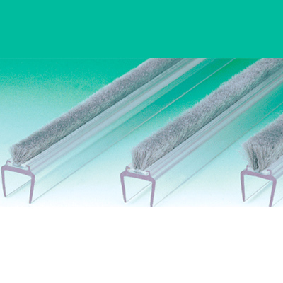 Clear Pvc Weather Strip For Brush Seal 10mm Glass